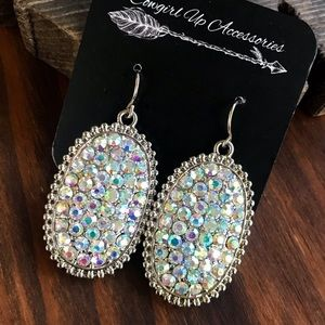 Jewelry - Sparkling Pave Rhinestone Earrings